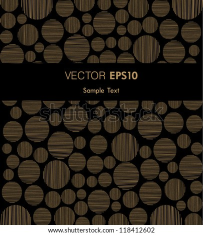 Golden background with place for your text and circle pattern. Template for design covers, invitations, greeting cards, wrapping - stock vector
