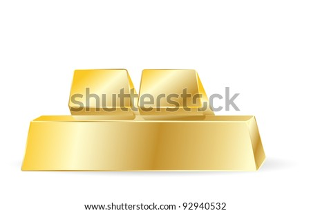 golden bars - stock vector