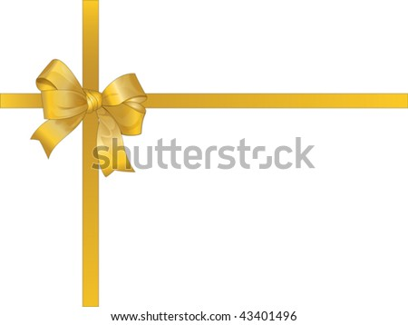 Golden bow on box, vector Golden gift bow ribbon isolated vector Golden gift bow ribbon isolated vector Golden gift bow ribbon isolated vector Golden gift bow ribbon isolated vector Golden gift bow