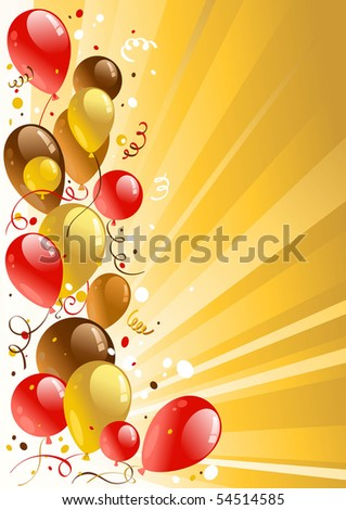 Golden celebration background with space for text - stock vector