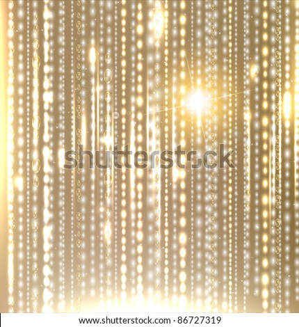 Golden christmas background for abstract xmas design, EPS10 vector. - stock vector