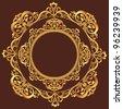 Golden Circle Ornament - stock photo