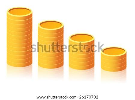 Golden coins - stock vector