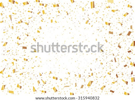 Golden confetti - stock vector