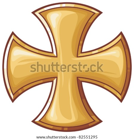 golden cross - stock vector