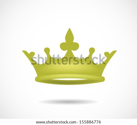 Golden crown isolated on a white background illustration VECTOR - stock vector