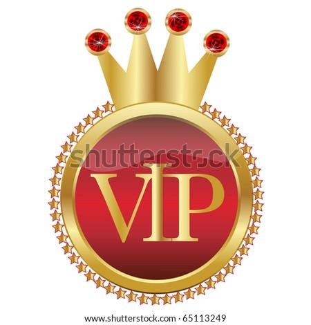 Golden Crown VIP.Vector - stock vector