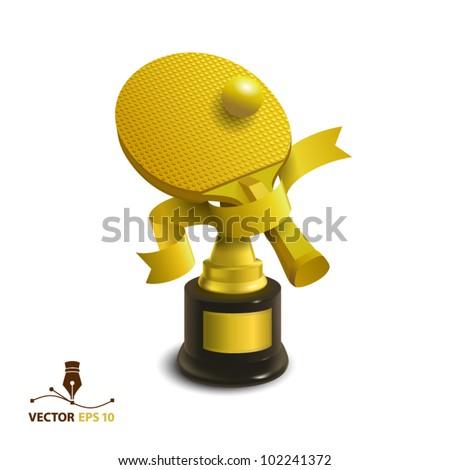 Golden cup - stock vector