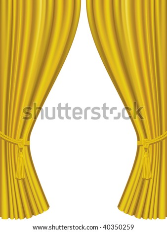 Golden curtains