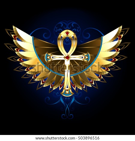 Silver Ankh Red Wings ...