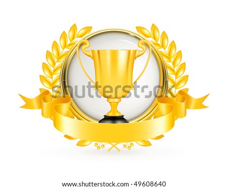 Golden Emblem, vector - stock vector