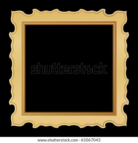 golden frame design - stock vector