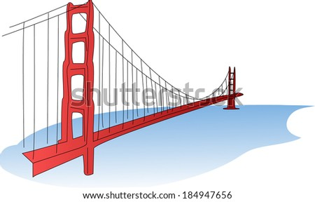 Golden Gate Bridge - stock vector