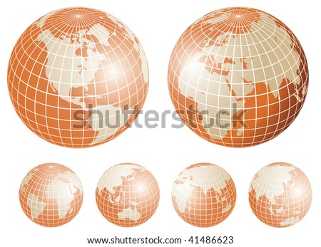 Golden globes. Vector illustration - stock vector