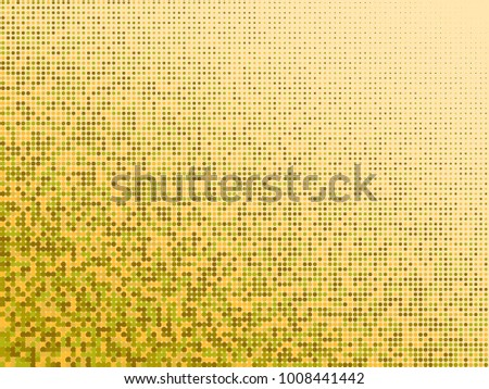 Golden Green Halftone Dots Gold Orange Geometric Gradient For Pop Art Designs