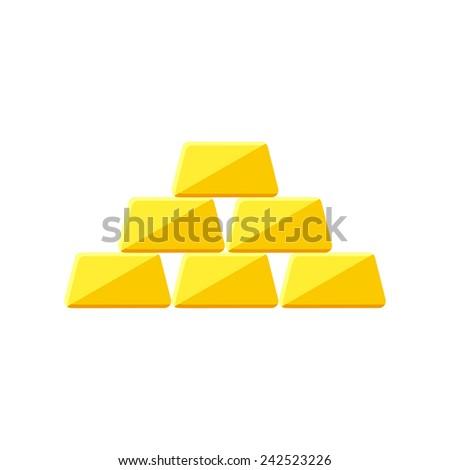 Golden icon icon(flat design) - stock vector