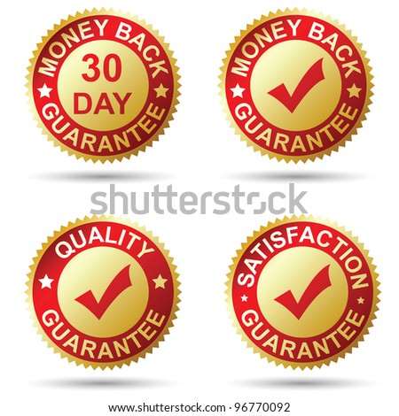 Golden label - stock vector