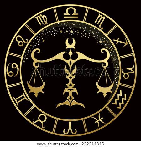 golden libra zodiac sign vector illustration stock photo photo rh shutterstock com libra logothetis libra logo tattoos