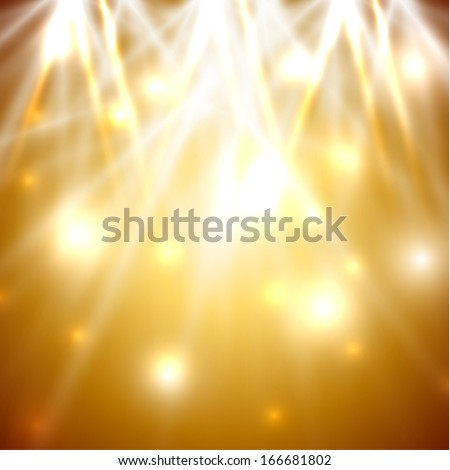 Golden ligths abstract background - eps10 - stock vector