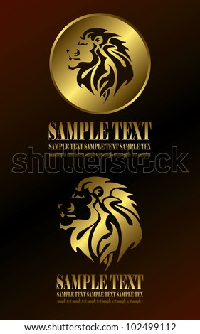 Gold Lion Head Stock Photos, Royalty-Free Images & Vectors ...