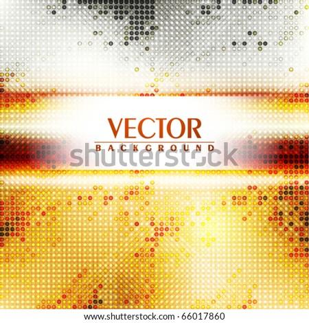 Golden mosaic background. Vector - stock vector
