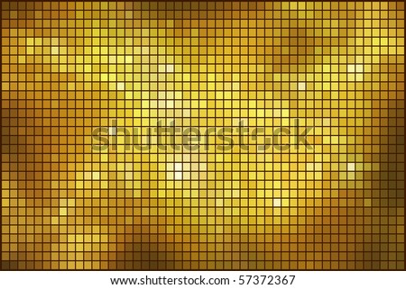 Golden mosaic vector background. - stock vector
