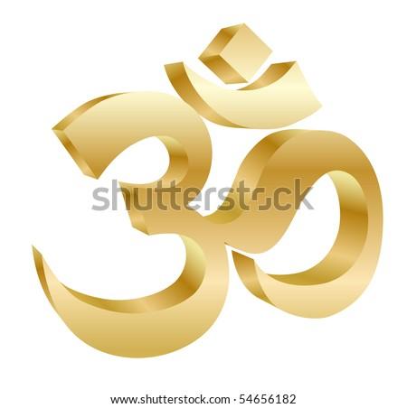 golden om symbol - vector - stock vector