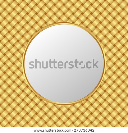 golden pattern with light plate - stock vector