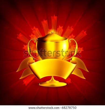 Golden Prize, Background eps10 - stock vector