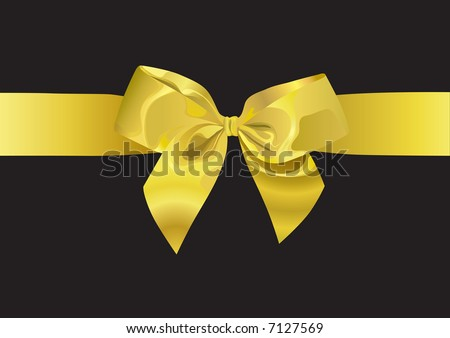 Golden Ribbon (vector). In the gallery also available XXL jpeg image made from this vector - stock vector