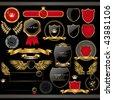 Golden royal design element - stock vector