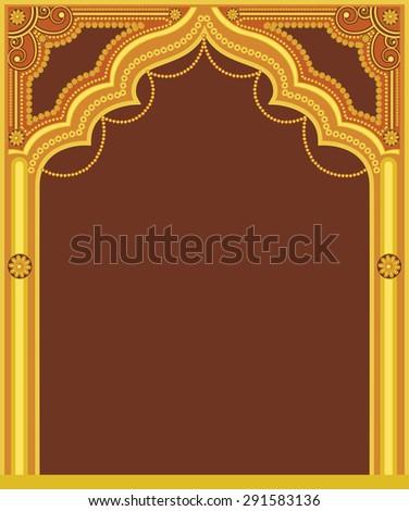 Golden Royal Frame Design - stock vector
