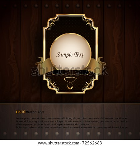 Golden Royal Labels | Elegant Presentation | EPS 10 with Separate Layers Named Accordingly - stock vector