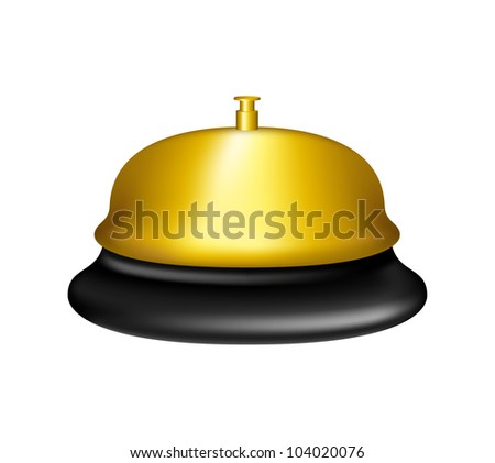 Golden service bell - stock vector