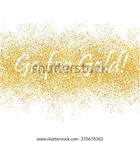 Golden spray banner on white vector illustration - stock vector