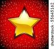 Golden Star. - stock vector