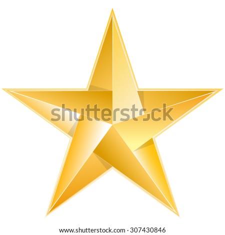 Golden Star - stock vector