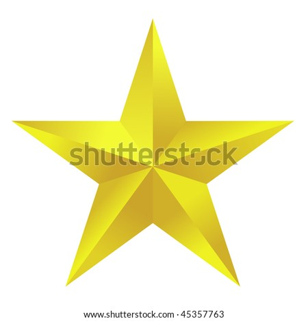 Golden Star - stock vector