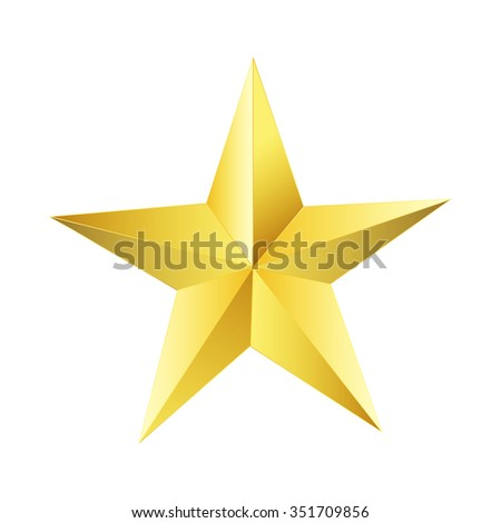 Golden star elegant, vector illustrator.