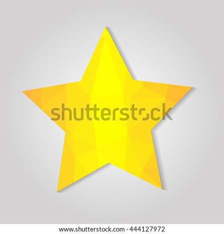 Golden star on grey background - stock vector