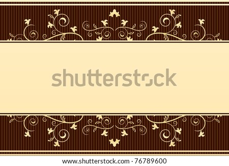 golden template- victorian style - stock vector