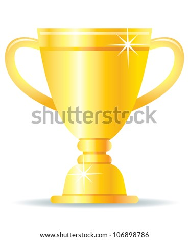 Golden Trophy Illustration - stock vector