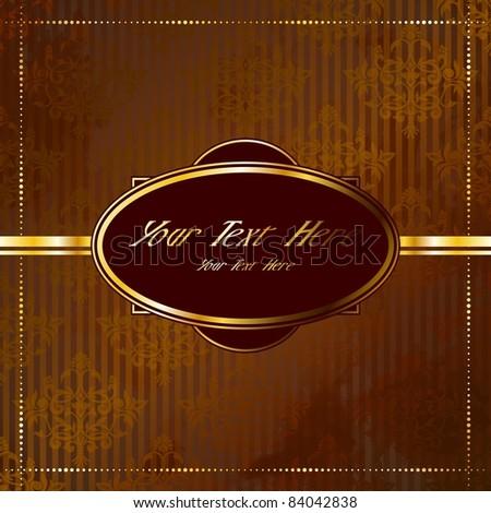 Golden Victorian vintage banner (eps10);  jpg version also available - stock vector