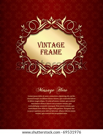 Golden Vintage Background - stock vector