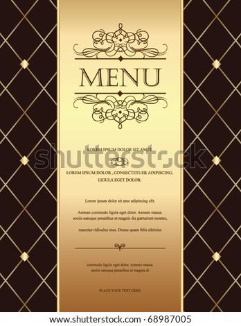 golden vintage template - stock vector