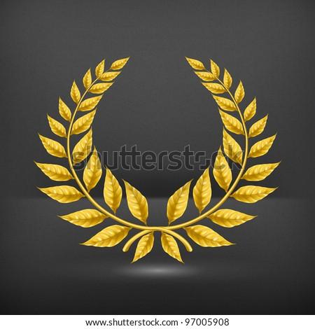 Golden wreath, eps10 - stock vector