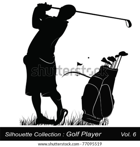 Golf and golfer - stock vector