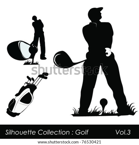 Golf and golfers - stock vector