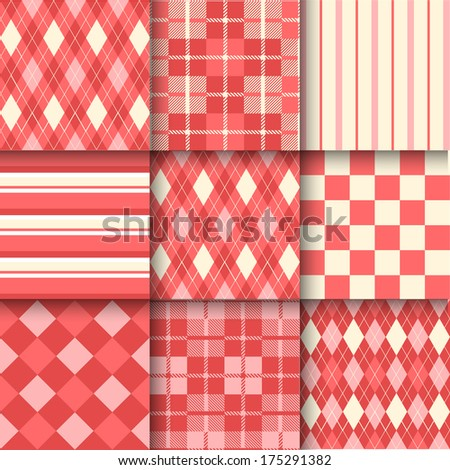 Golf backgrounds. Seamless pattern background with Valentine's  color. Vector illustration. Pattern Swatches made with Global Colors - quick, simple editing of color - stock vector
