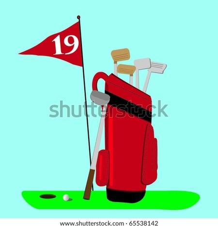 Golf bag vector - stock vector